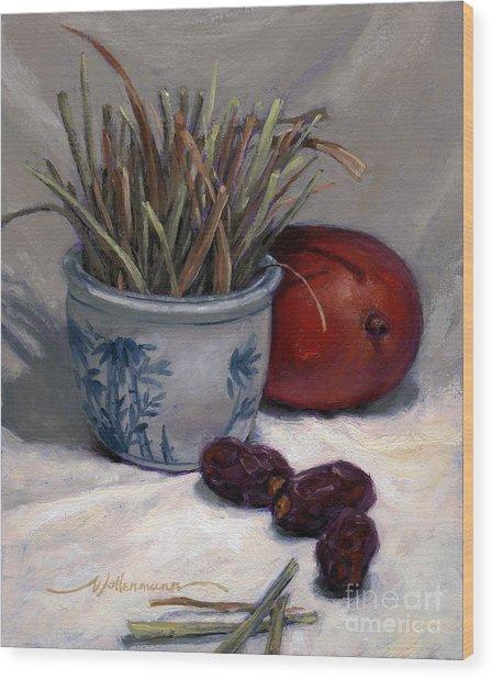 Dates Lemongrass And Mango Wood Print