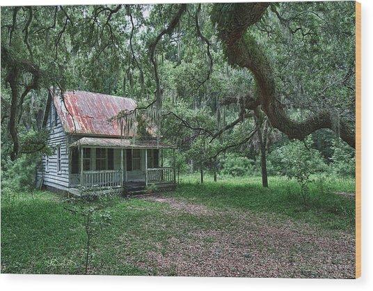Daufuskie Homestead Wood Print