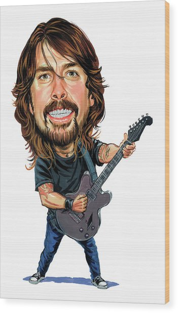 Dave Grohl Wood Print by Art