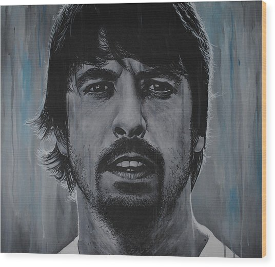 Dave Grohl Wood Print