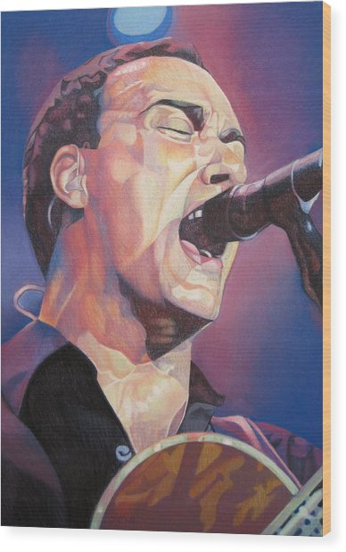 Dave Matthews Colorful Full Band Series Wood Print