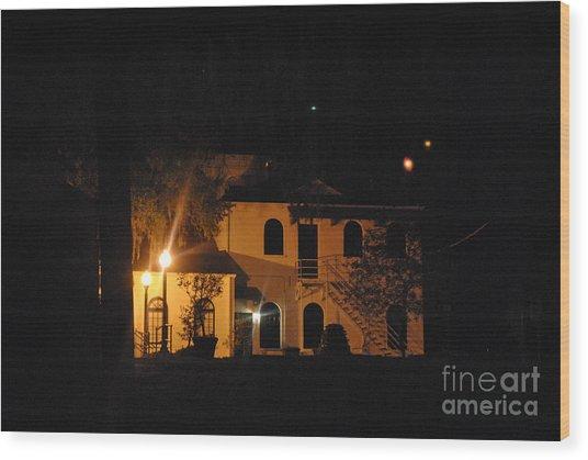 Davenport At Night Wood Print