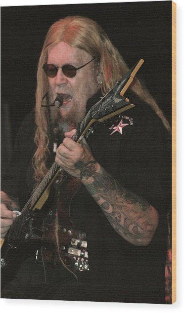 David Allan Coe Wood Print by Joe Bledsoe