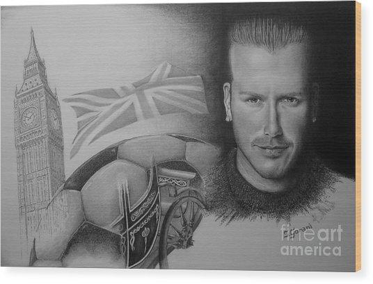 David Beckham Wood Print