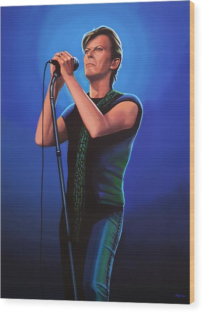 David Bowie 2 Painting Wood Print