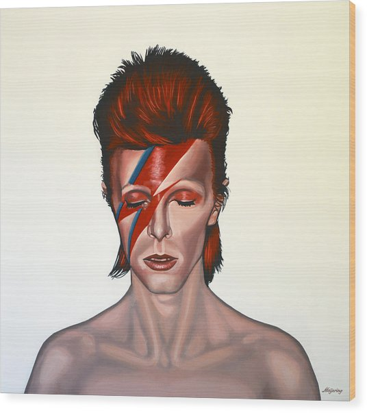 David Bowie Aladdin Sane Wood Print