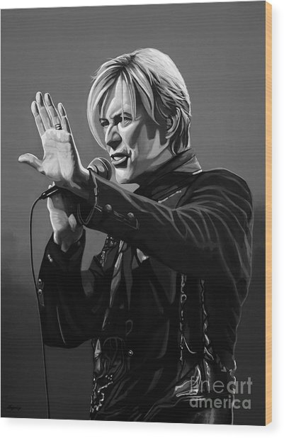 David Bowie In Concert Wood Print