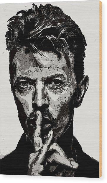 David Bowie - Pencil Wood Print