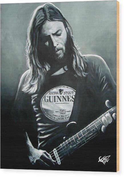 David Gilmour Wood Print