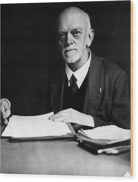 David Hilbert Wood Print by Emilio Segre Visual Archives/american Institute Of Physics