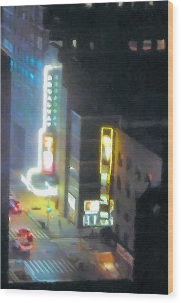 David Letterman Show Theater On Broadway E5 Wood Print by Bud Anderson