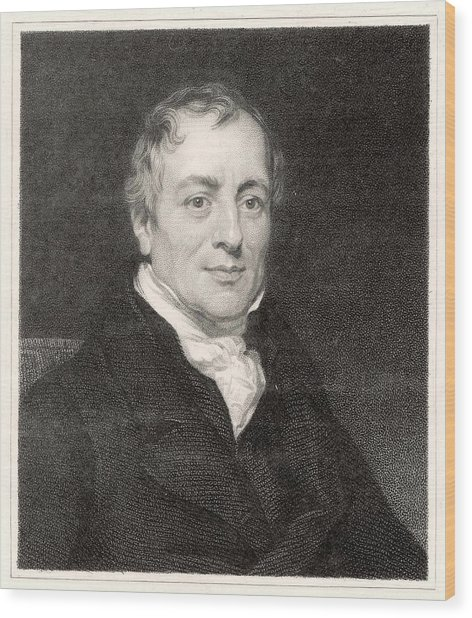 David Ricardo  Economist        Date Wood Print by Mary Evans Picture Library