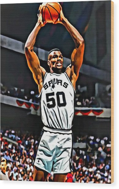 David Robinson Wood Print