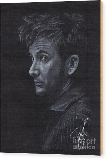 David Tennant 3 Wood Print by Rosalinda Markle