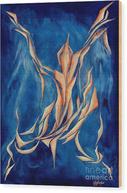 David's Angel Wood Print