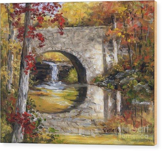 Davies Bridge November Wood Print