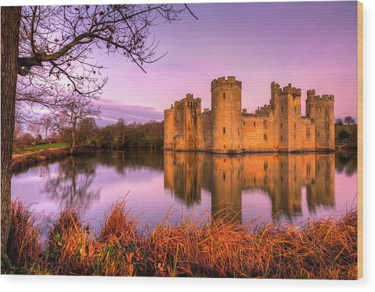 Dawn At Bodiam Wood Print