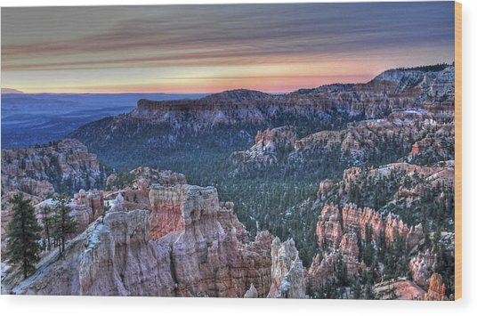 Dawn At Bryce Canyon Wood Print