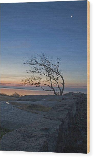 Dawn At Fort Phoenix Wood Print