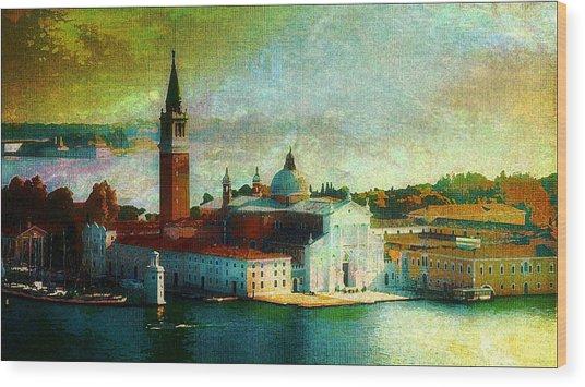 Dawn San Giorgio Maggiore Wood Print