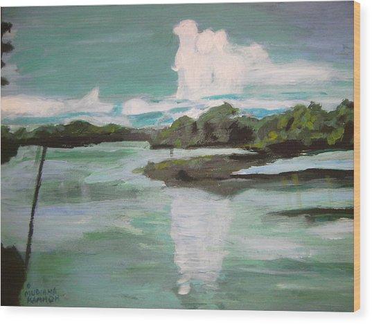 Dawn Breaks On Jong River Mattru Sierra Leone Wood Print