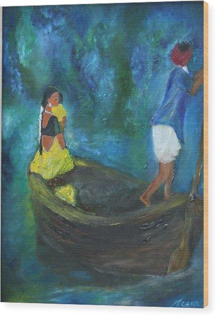 Dawn Crossing Wood Print by Neena Alapatt