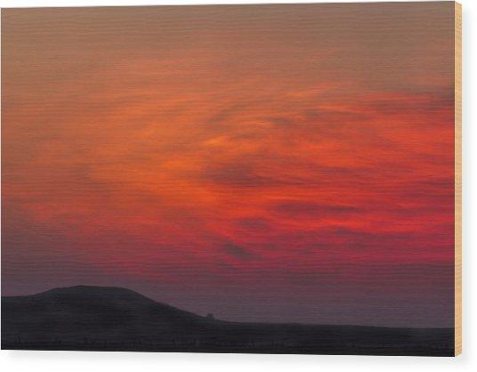 Dawn Glow Wood Print