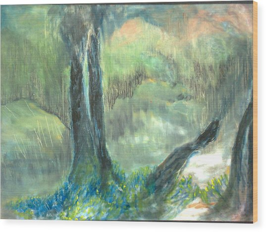 Dawn In The Valley Wood Print