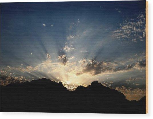 Dawn Of Hope Wood Print by Wings  Mok