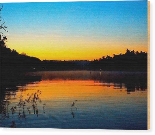 Dawn On Crown Cove Wood Print