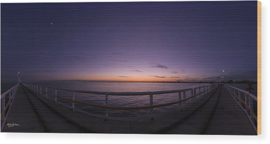 Dawn On The Jetty Wood Print by Andrew Dickman