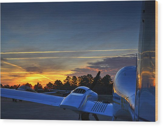 Dawn On The Ramp 02 Wood Print