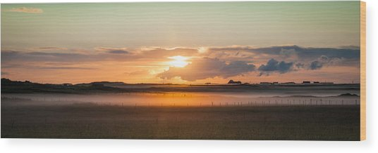 Dawn On Tiree Wood Print