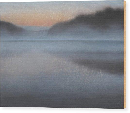 Dawn Parts The Mist Wood Print