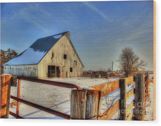 Dawns Barn Wood Print