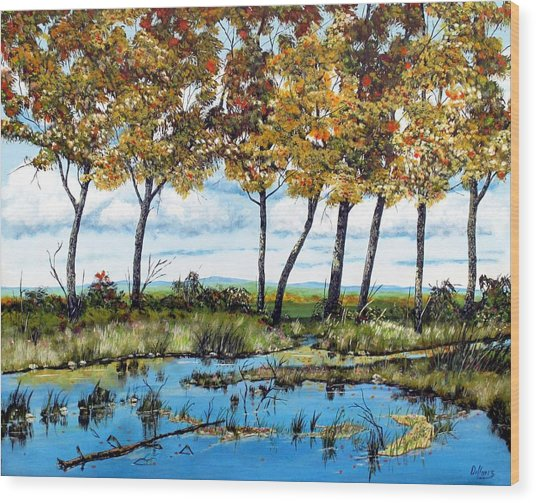 Dawn's Blue Waters Edge  Wood Print