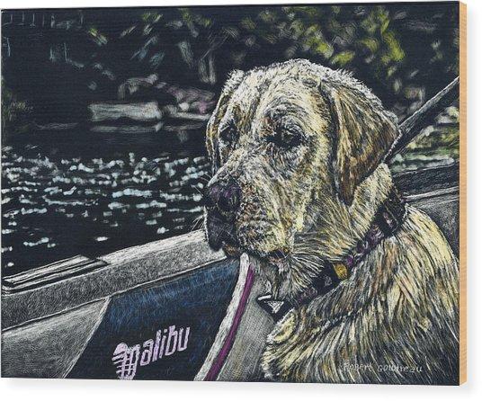 Dawson At The Lake Wood Print by Robert Goudreau