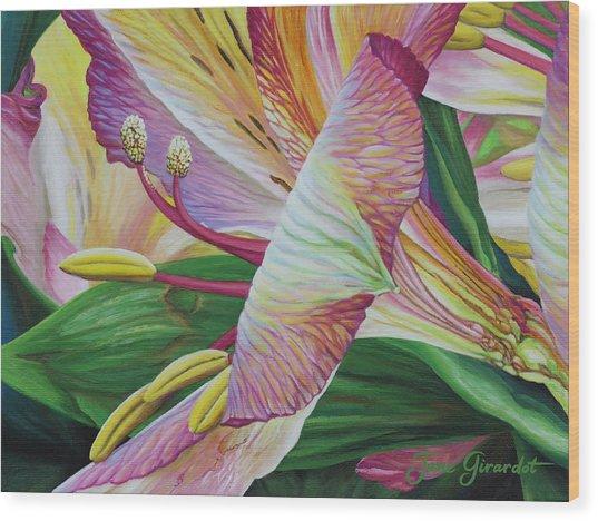 Day Lilies Wood Print