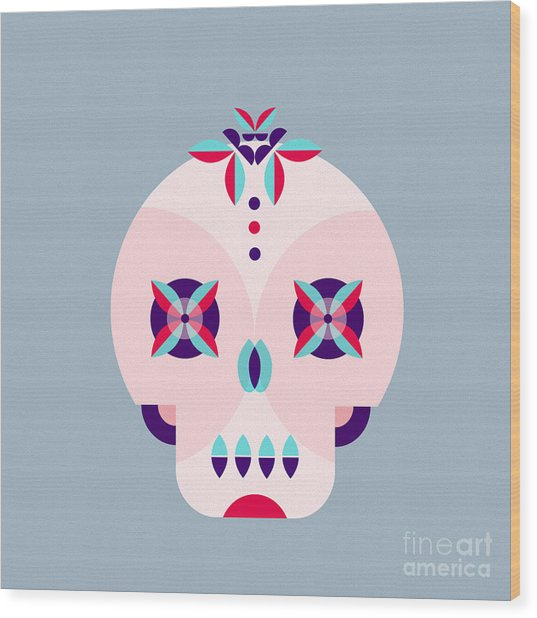 Day Of The Dead Poster Wood Print
