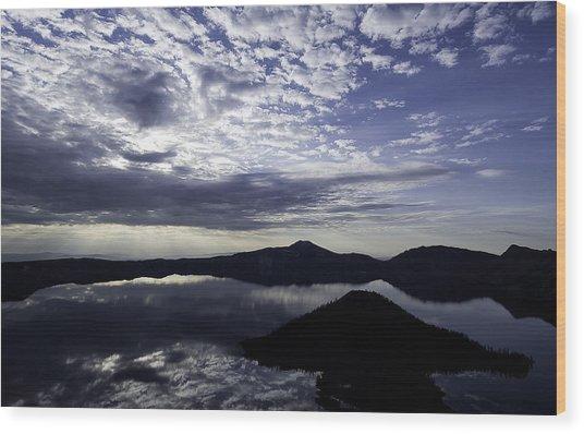 Daybreak At Crater Lake Wood Print