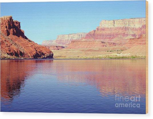 Daybreak - Vermillion Cliffs And Colorado River Wood Print by Douglas Taylor