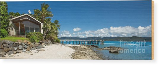 Daydream Island Pano Wood Print by Shannon Rogers