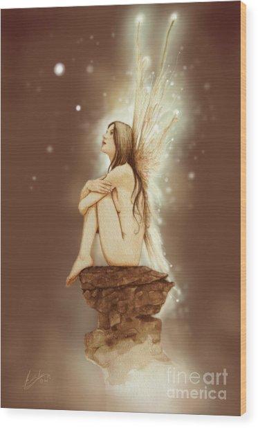 Daydreaming Faerie Wood Print
