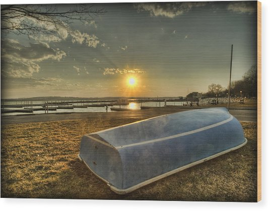 Wood Print featuring the photograph Day's End by Chris Babcock