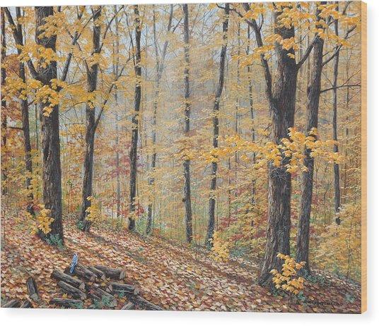Days Of Autumn Wood Print