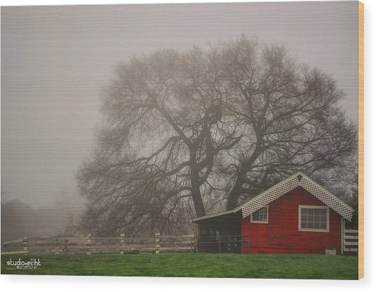 Days Of Fall Wood Print by Sarai Rachel