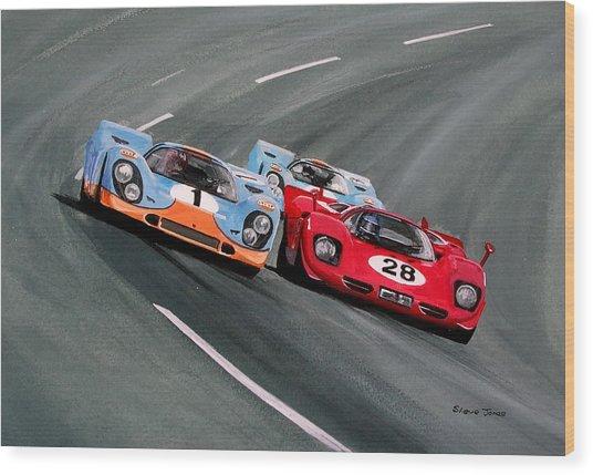 Daytona 1970 Wood Print