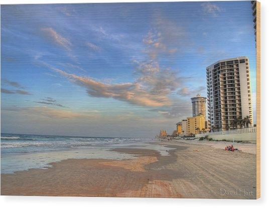 Daytona Beach Shores Wood Print
