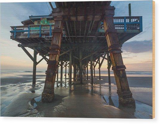 Daytona Beach Shores Pier Wood Print