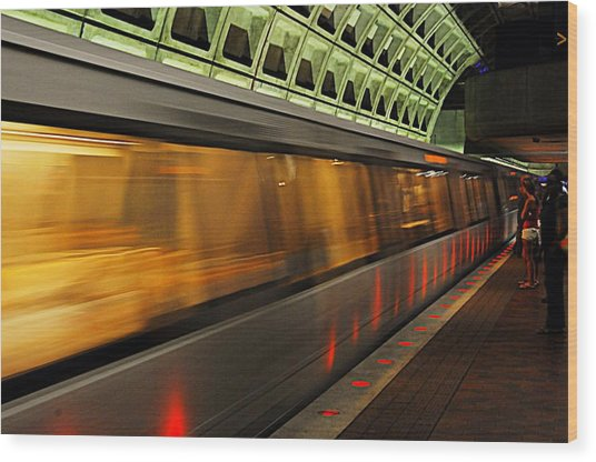 Dc Metro Wood Print